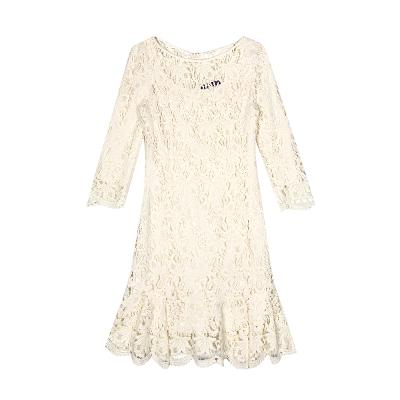 lace punching through dress